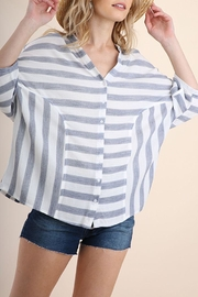 Umgee USA Linen Stripe Top - Product Mini Image