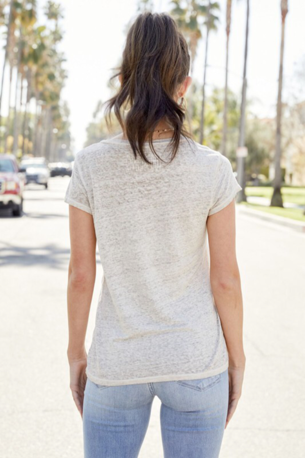 Venti 6 Linen T Shirts - Side Cropped Image