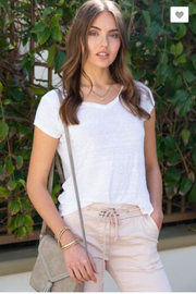 Venti 6 Linen T Shirts - Front cropped