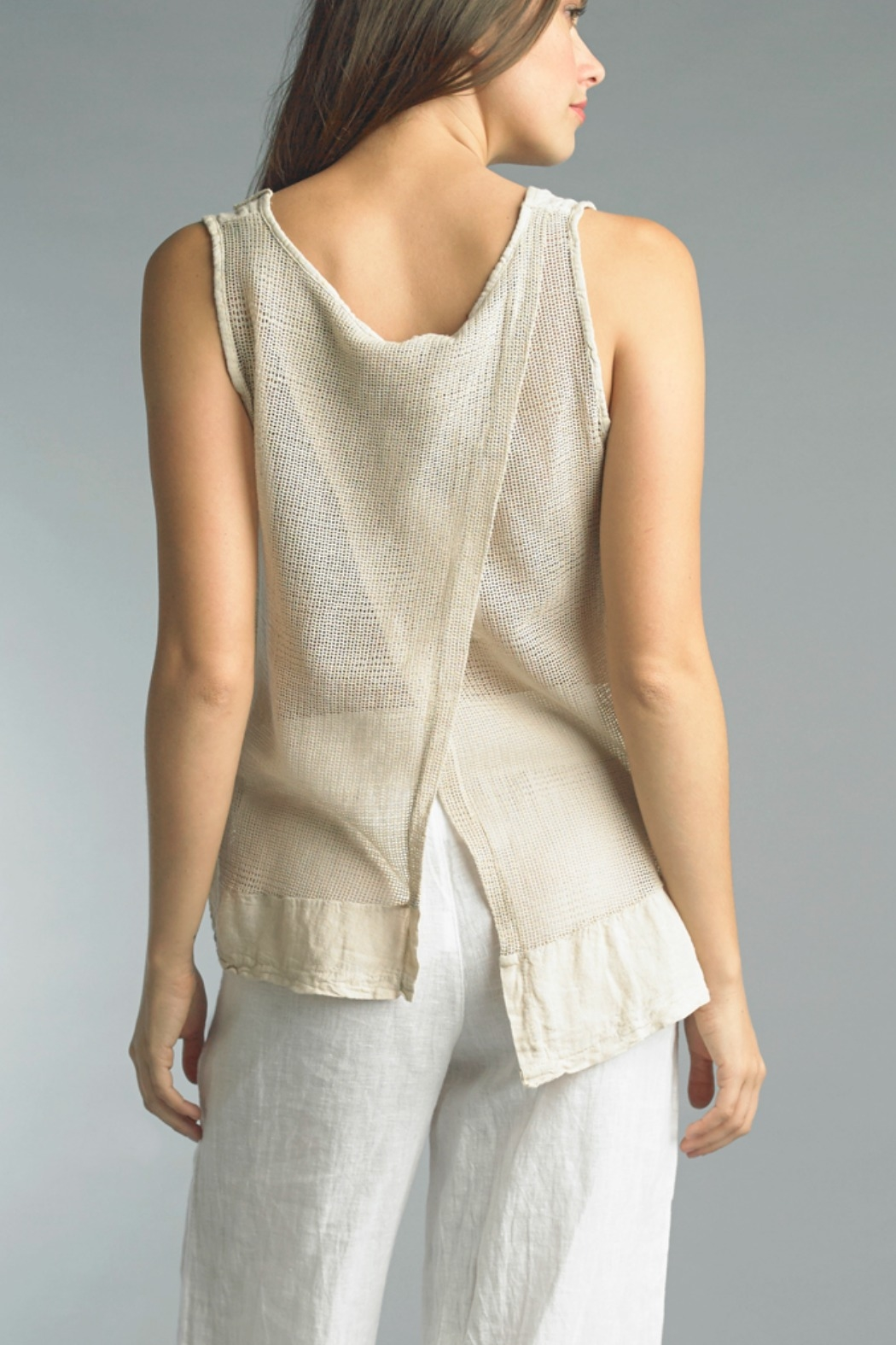 Tempo Paris  Linen Tank Top - Main Image