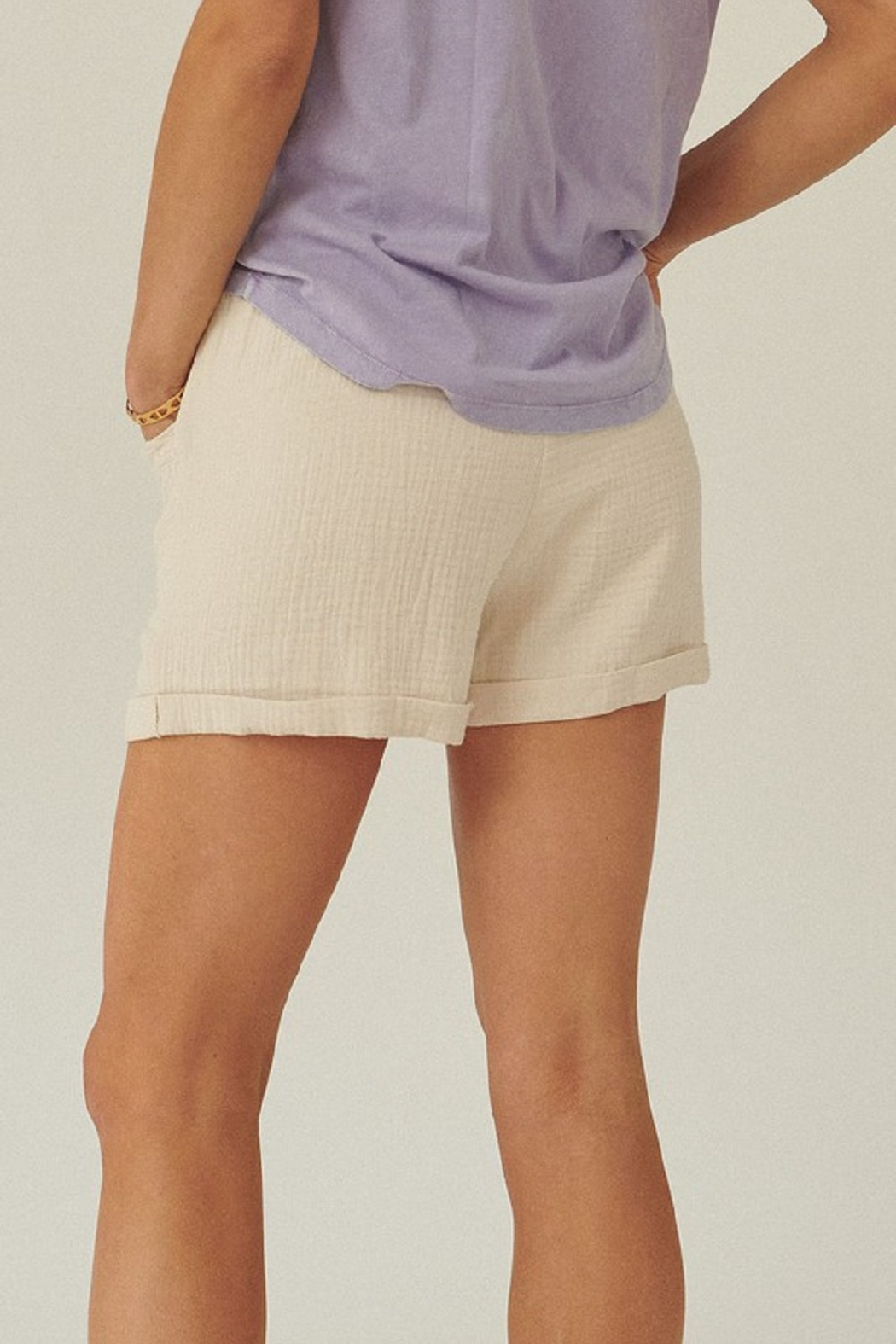 Promesa  Linen Tie Waist Shorts - Side Cropped Image