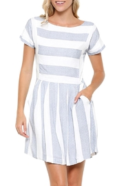 Esley Collection Linen Tunic Dress - Front cropped