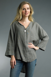 Tempo Paris  LINEN TUNIC TOP - Product Mini Image
