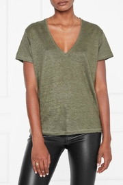 Anine Bing Linen V-Neck Tee - Product Mini Image