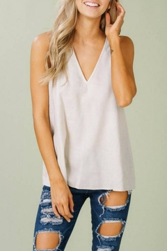 Listicle Linen V Tank - Product List Image