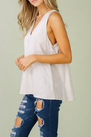 Listicle Linen V Tank - Front full body