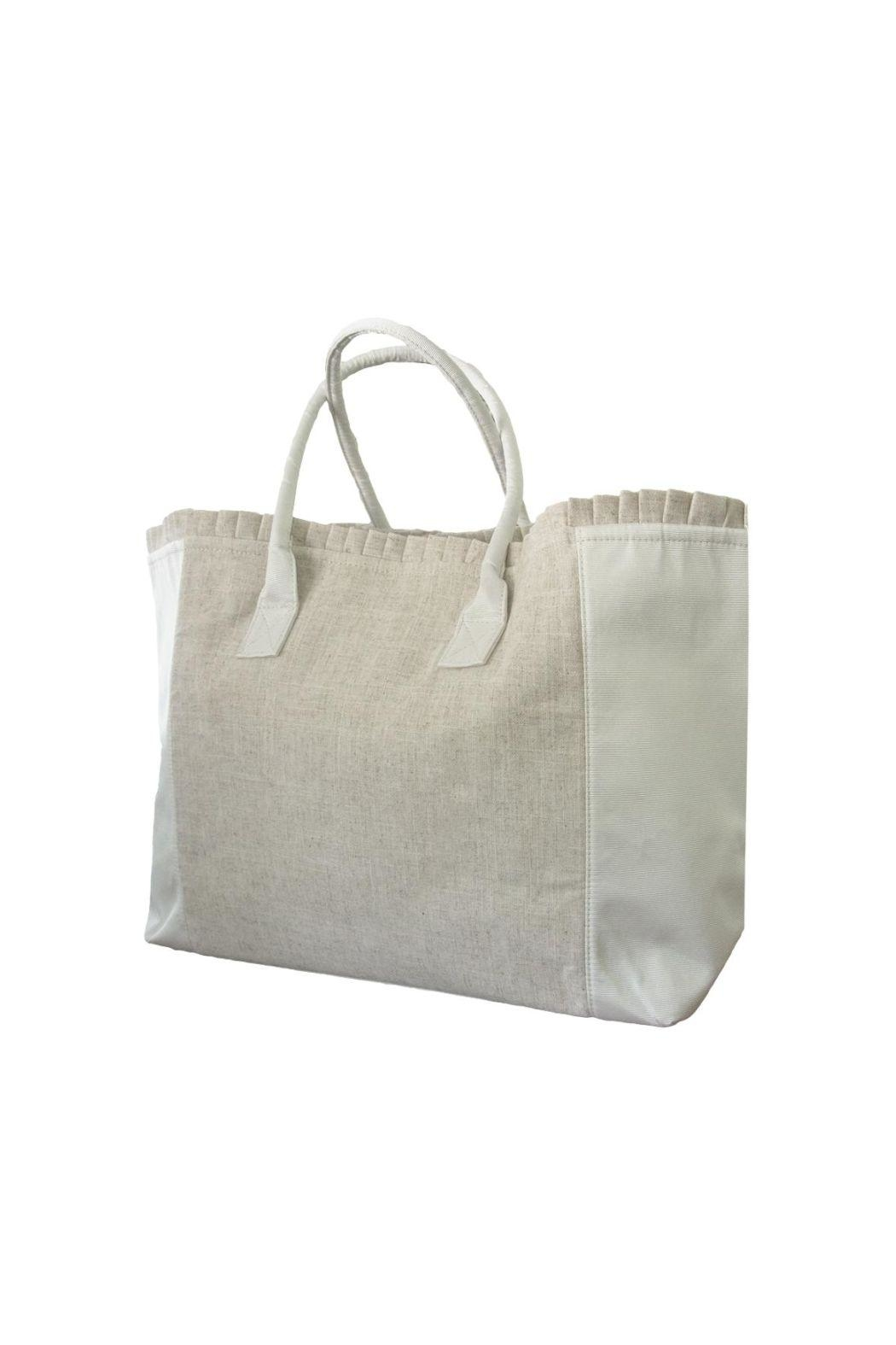 Mainstreet Collections Linen Weekender Tote - Main Image