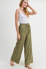 Cotton Bleu Linen Wide Leg Pants - Product Mini Image