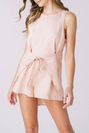 Listicle Linen Wrap Romper - Product Mini Image