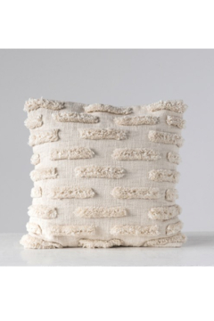 Creative Co-Op Lines Woven Cotton Pillow - Product List Image