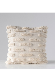 Creative Co-Op Lines Woven Cotton Pillow - Product Mini Image