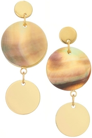 Girly Linked Circle Earrings w Shell Disk - Product Mini Image