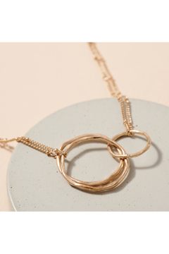 avenue zoe  Linked Organic Rings Layered Necklace - Alternate List Image