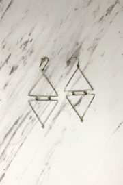 By Philippe Linked Triangle Earrings Gold Filled - Product Mini Image
