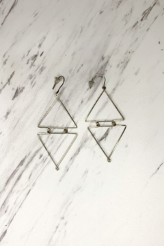 Shoptiques Product: Linked Triangle Earrings Gold Filled