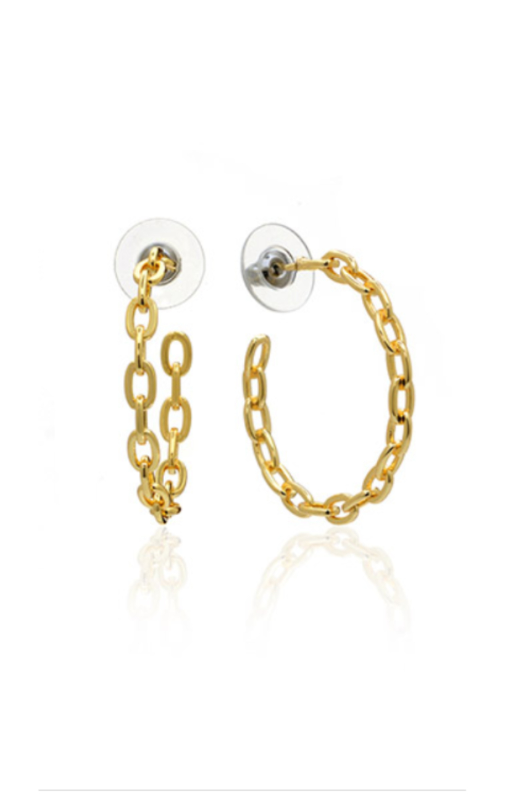 ANUJA TOLIA Linkish Chain Hoops - Front Cropped Image