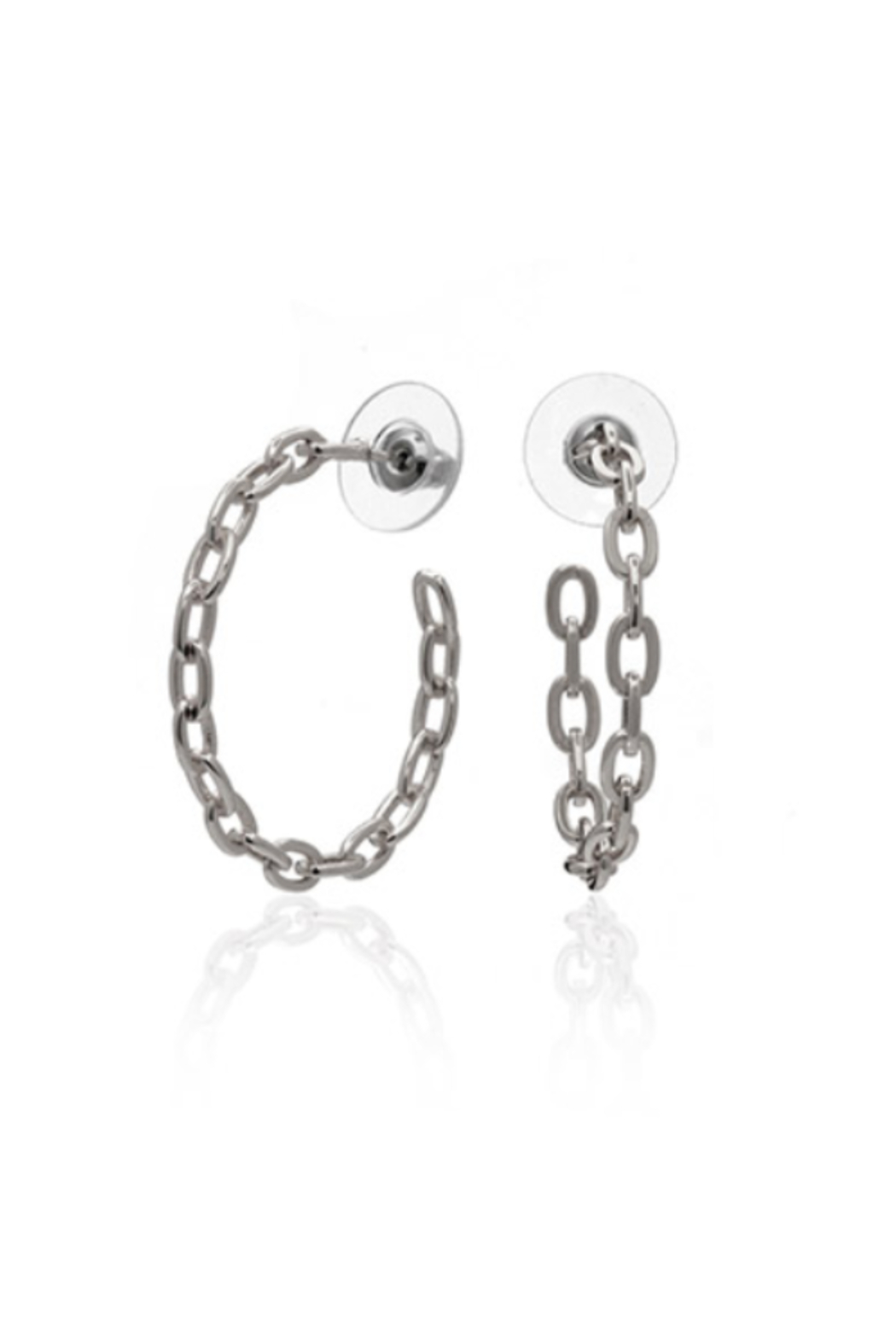 ANUJA TOLIA Linkish Chain Hoops - Main Image