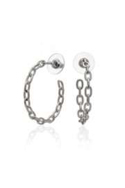 ANUJA TOLIA Linkish Chain Hoops - Front cropped