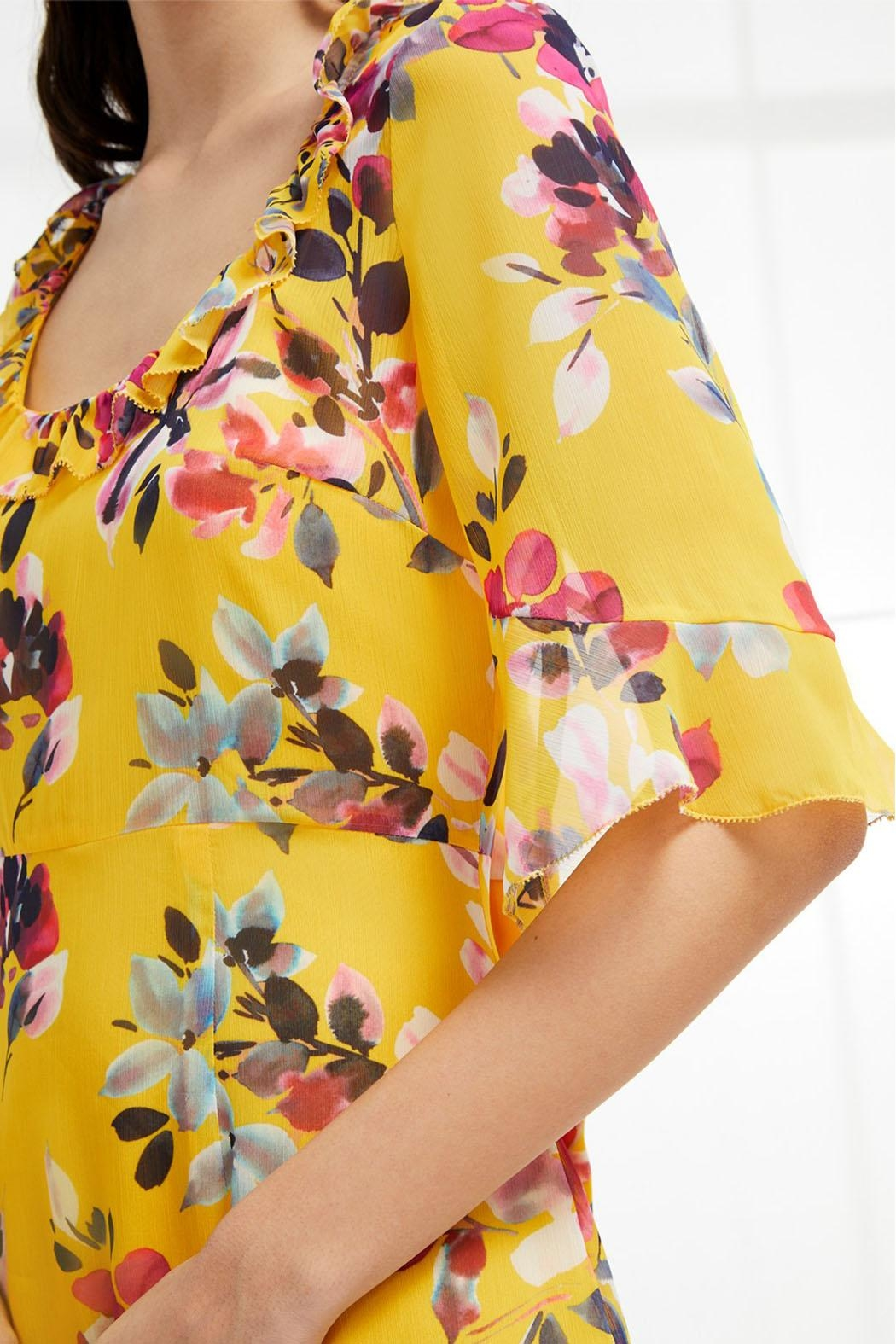 French Connection Linosa Tiered Dress - Back Cropped Image