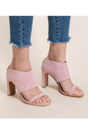 42 Gold Linx Heeled Sandal - Front full body