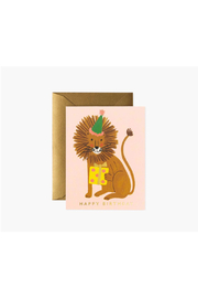 Rifle Paper Co.  Lion Birthday Card - Product Mini Image