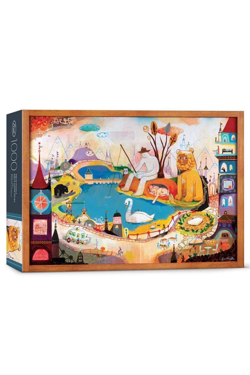 Fred Puzzles Lion is Awake 1000 Piece Puzzle - Main Image
