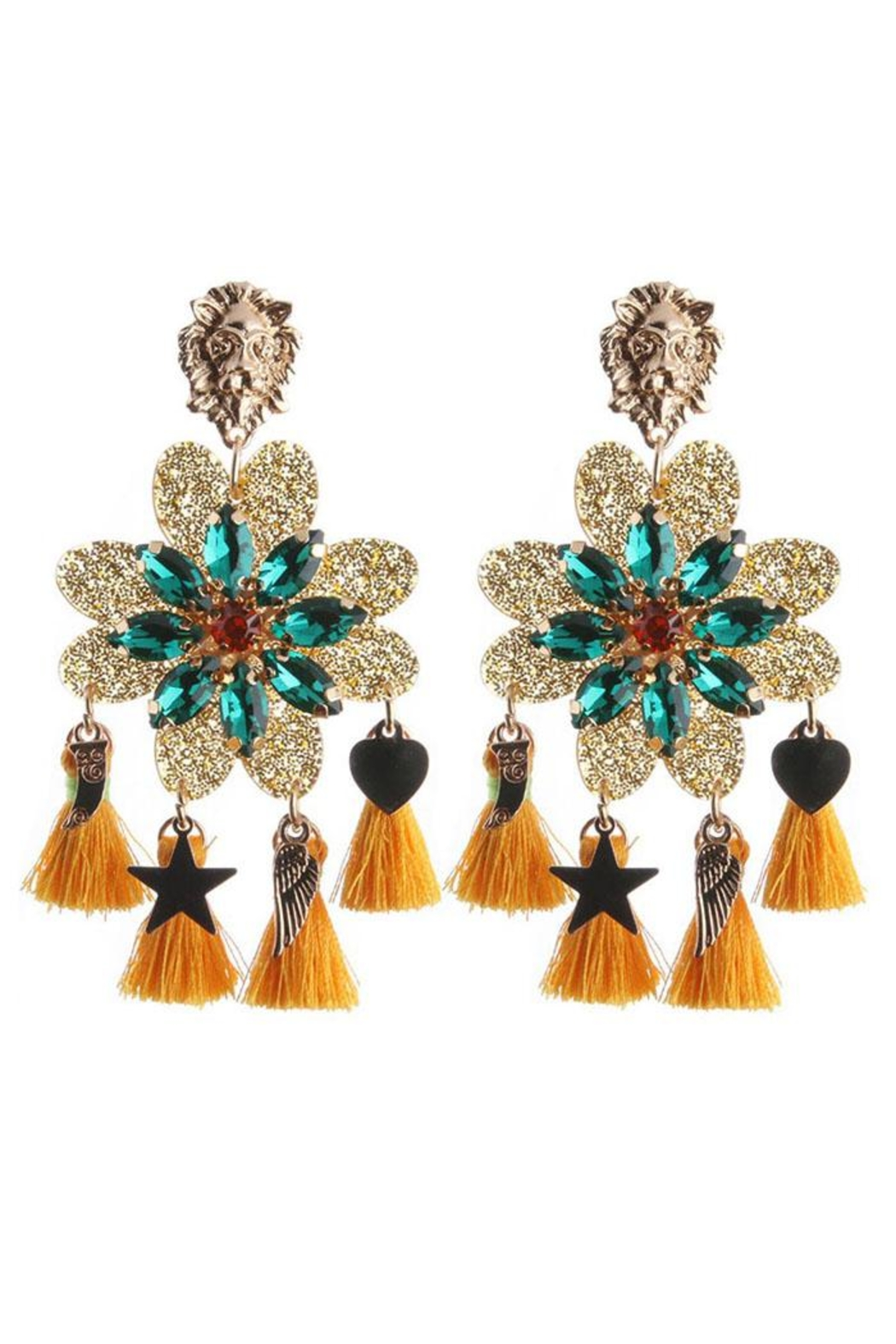 Madison Avenue Accessories Lioness Bold Earring - Main Image