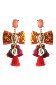 Madison Avenue Accessories Lioness Bow Earrings - Product Mini Image