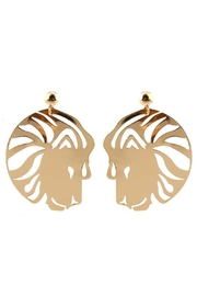 Madison Avenue Accessories Lioness Statement Earring - Product Mini Image