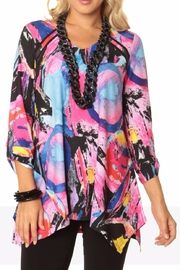 Lior Abstract Print Tunic - Product Mini Image