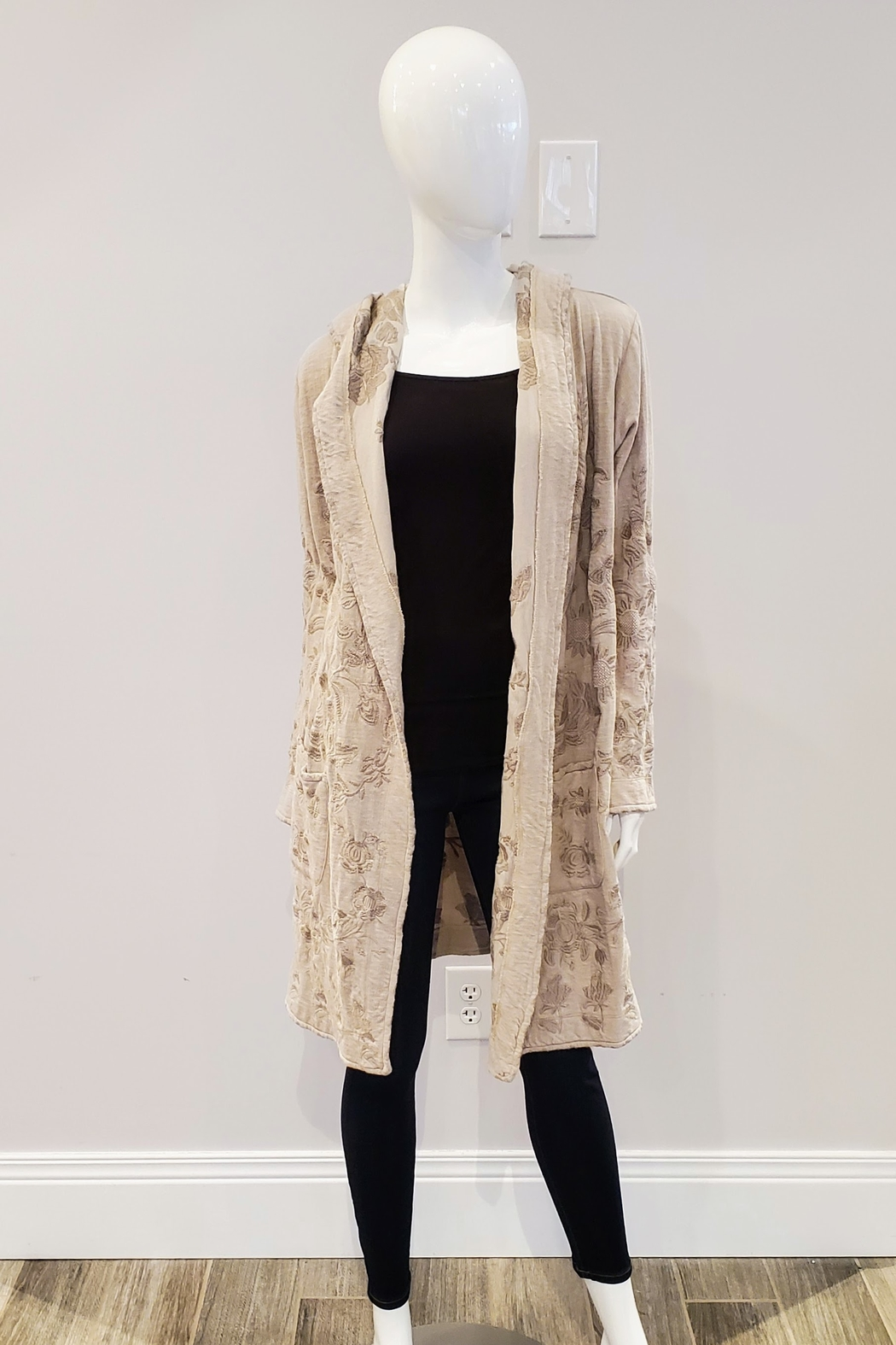 Johnny Was Lior Duster, Light Beige - Front Cropped Image