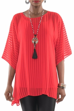 Shoptiques Product: Sheer Red Tunic Top