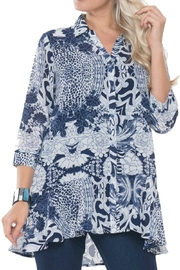Lior Paris Buttoned Peblum Tunic - Product Mini Image
