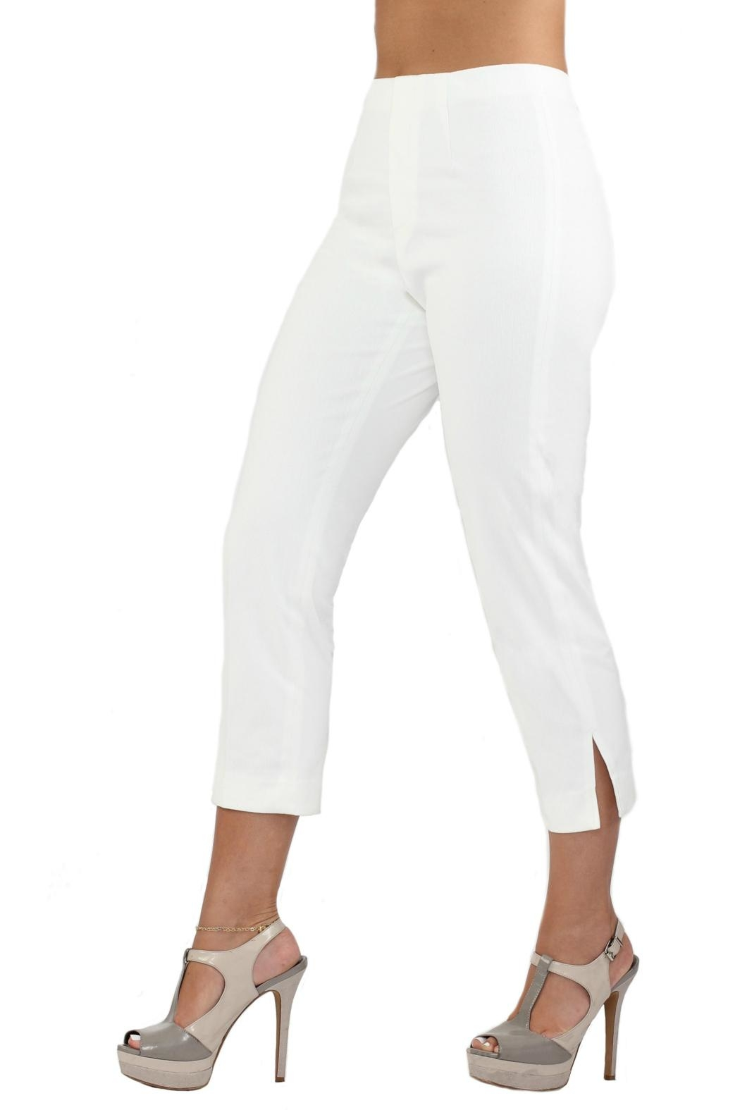 Lior Paris White Denim Capri - Front Full Image