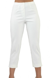 Lior Paris White Denim Capri - Front cropped