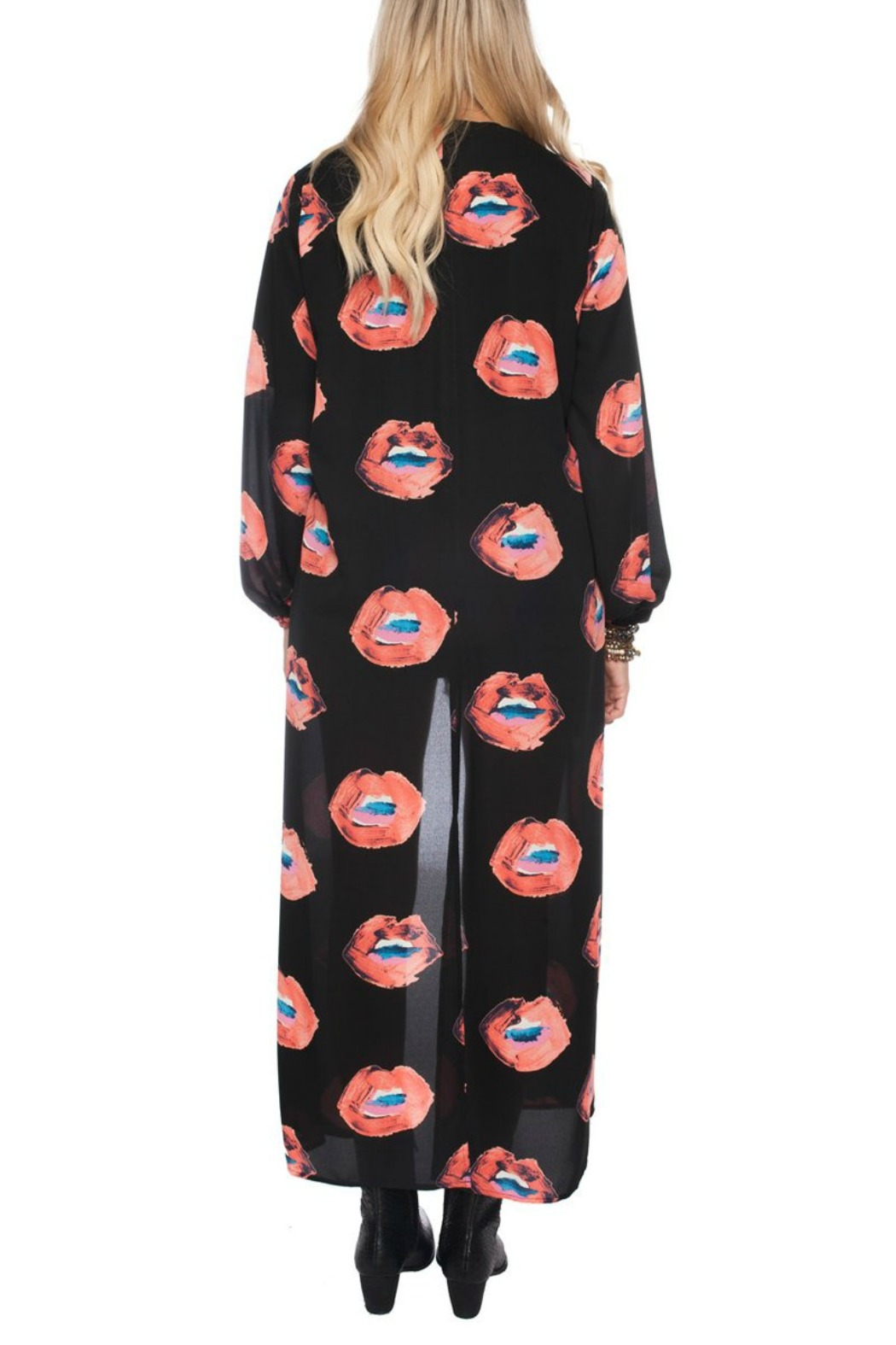 Buddy Love Lip Print Duster - Side Cropped Image