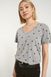 Z Supply  Lipa Skull V-Neck Tee - Front cropped