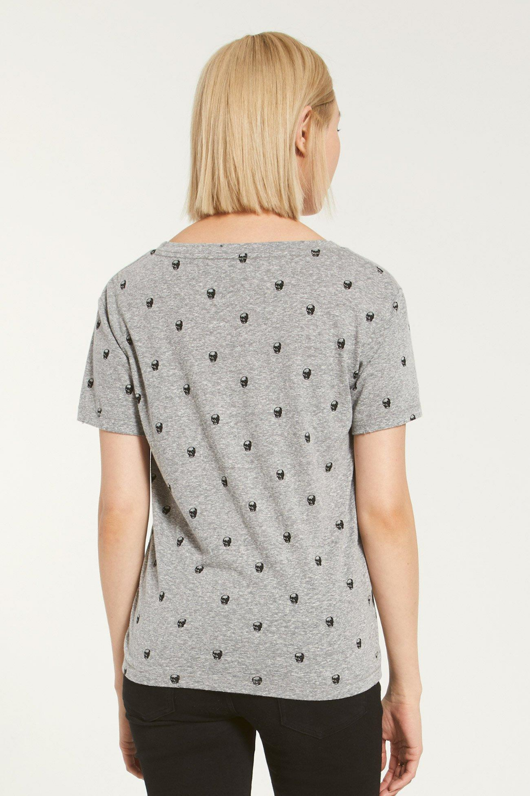 Z Supply  Lipa Skull V-Neck Tee - Side Cropped Image