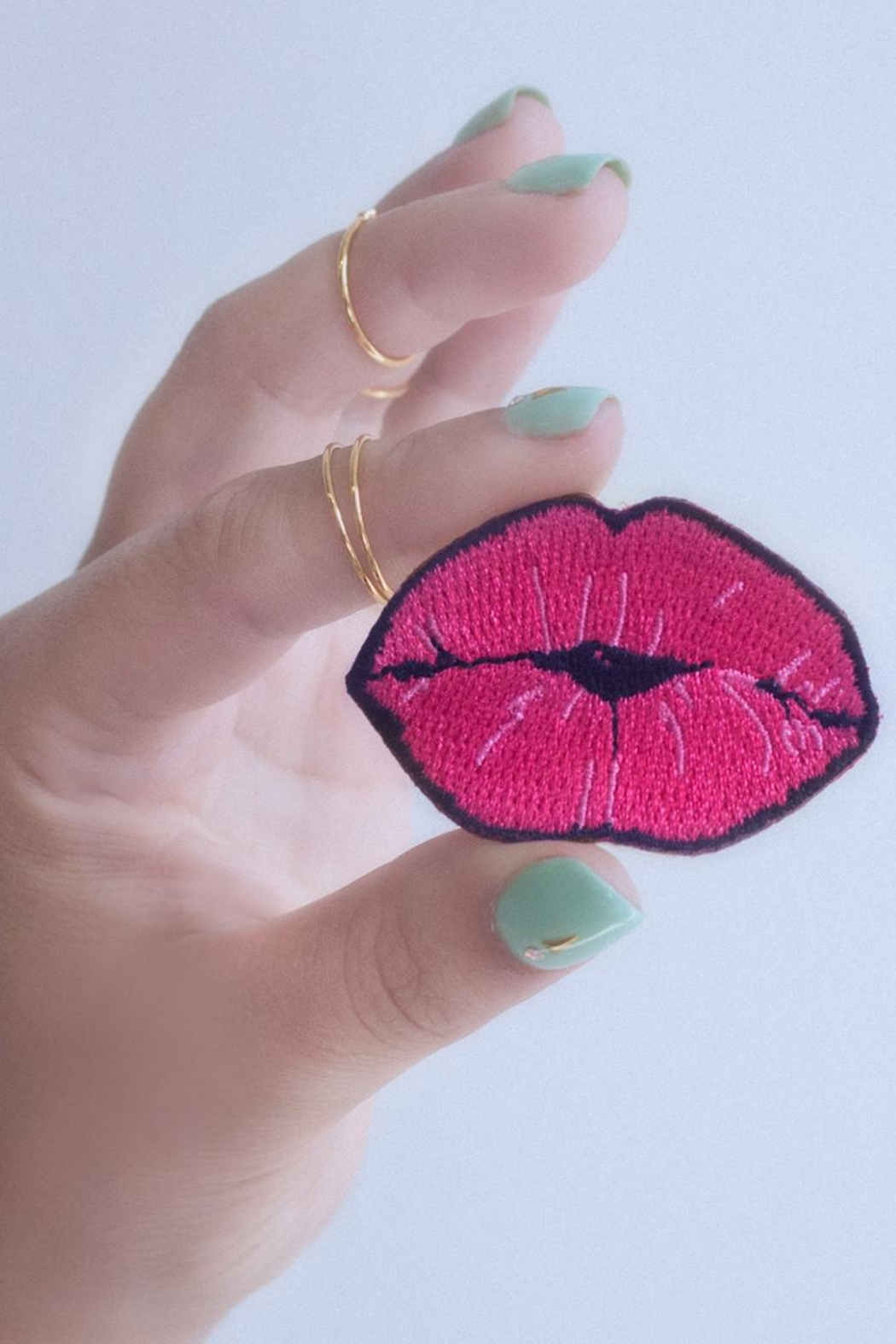 Wildflowers Lips Patch - Front Full Image