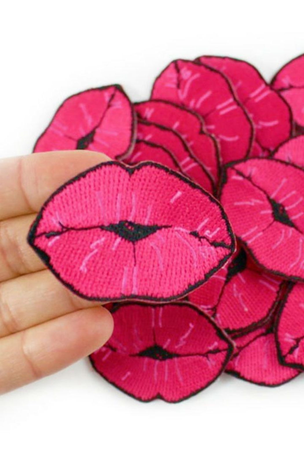 Wildflowers Lips Patch - Back Cropped Image