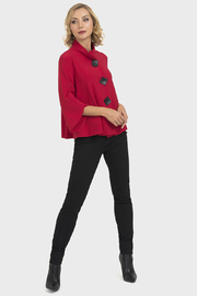 Joseph Ribkoff Lipstick red jacket - Product Mini Image