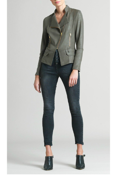 Clara Sunwoo Liquid Leather Biker Jacket - Product List Image