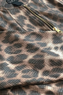 Clara Sunwoo Liquid Leather Slit Pocket Jacket - Cheetah - Alternate List Image