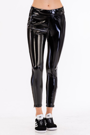 Olivaceous  Liquid Vegan Patent Legging - Product Mini Image