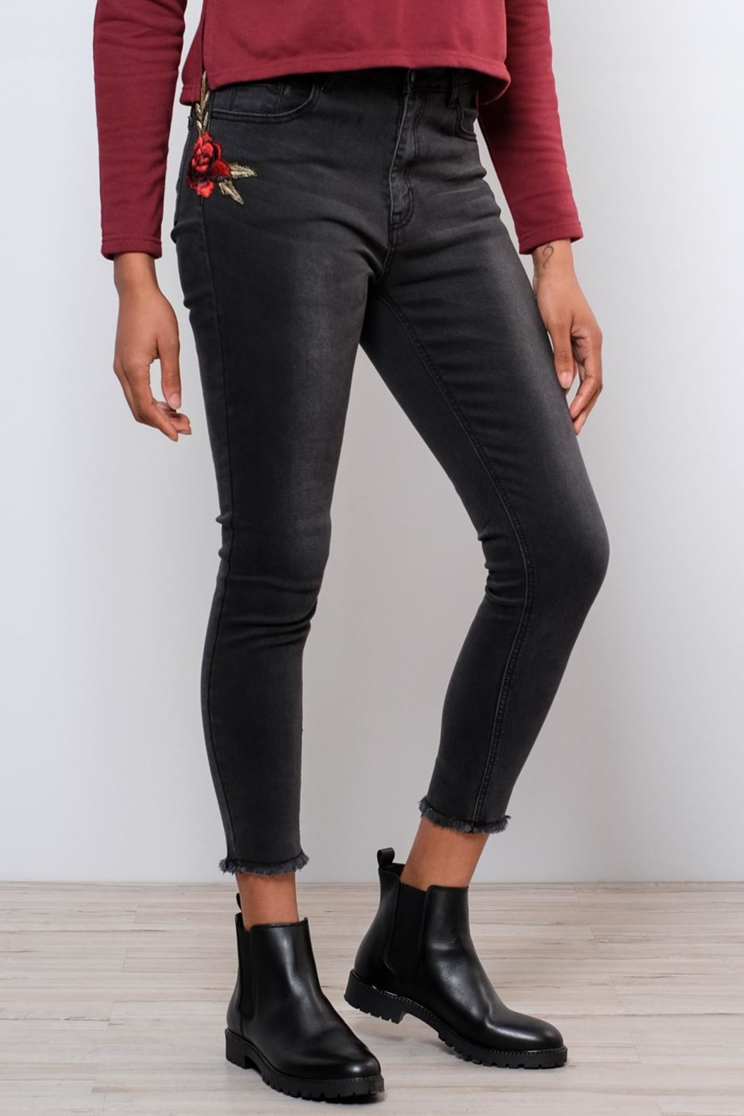 Lira Embroidered Jeans - Main Image