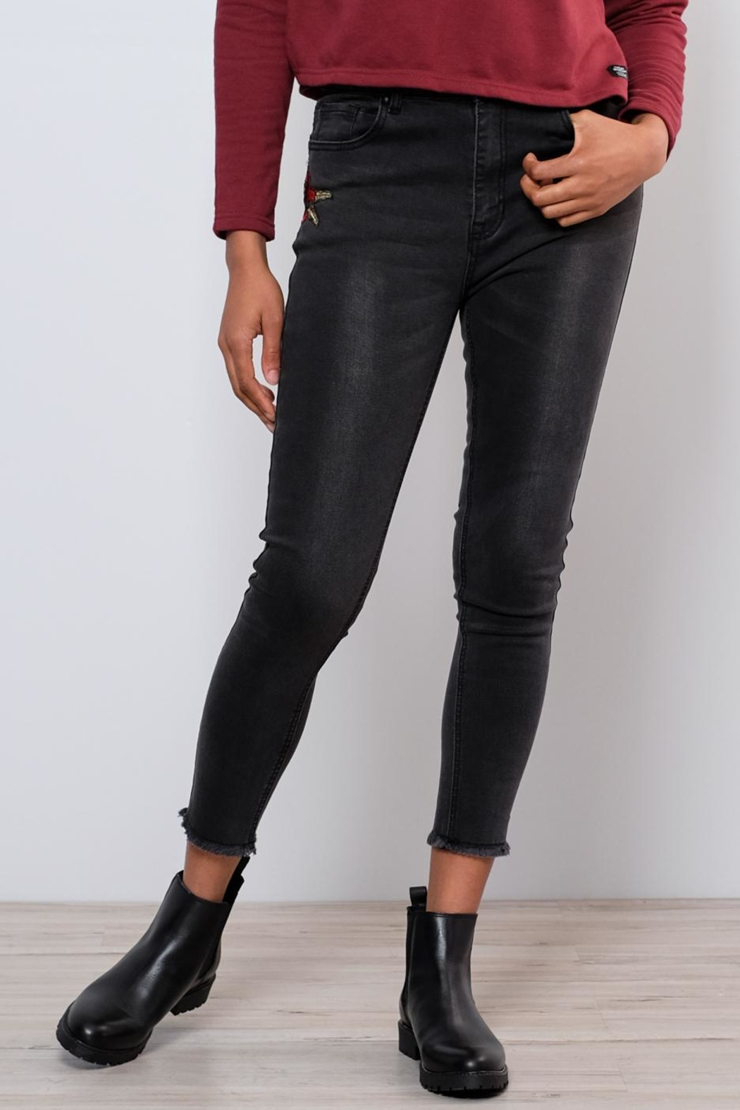 Lira Embroidered Jeans - Front Full Image