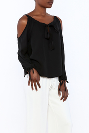 Lisa & Lucy Black Cold-Shoulder Blouse - Product Mini Image