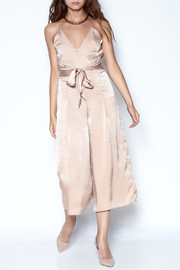 Lisa & Lucy Golden Jumpsuit - Front full body
