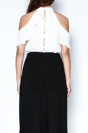 Lisa & Lucy Hanky Hem Wrap Shorts - Back cropped
