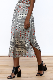 Lisa & Lucy Silk Midi Skirt - Front cropped